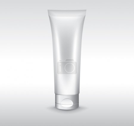 Blank cosmetic tube vector object