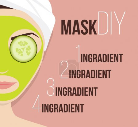 Mask for treating skin vector illustration