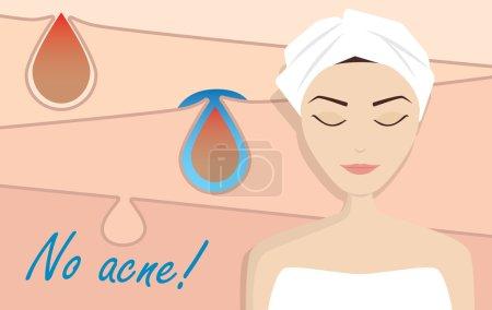 Acne treatment illustration beauty vetor