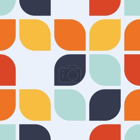 Illustration for Seamless geometric vintage wallpaper, vector illustration - Royalty Free Image