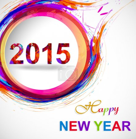 Background for Happy New Year 2015 colorful grunge celebration c