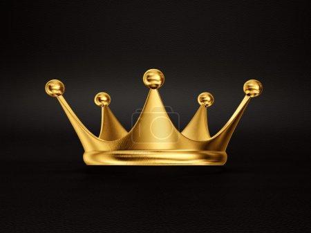 Photo pour Couronne d'or isolé sur un fond noir - image libre de droit