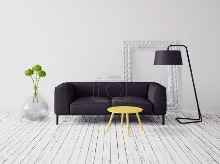 Modern interior with beautiful furniture