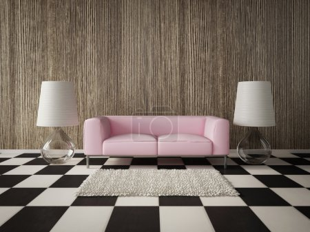 Photo for 3d render. modern interior room with a beautiful furniture. - Royalty Free Image