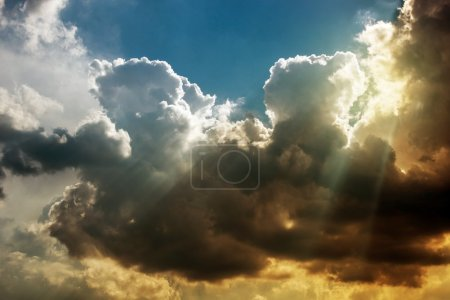 Photo for Stormy Atmosphere Nature Photo. Stormy Cloudscape. - Royalty Free Image