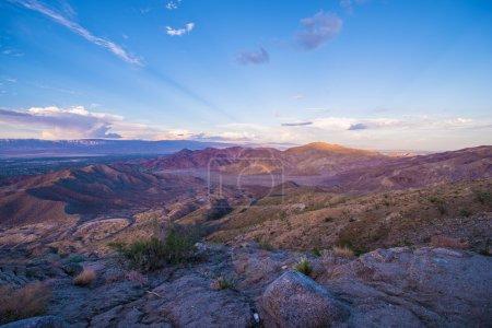 coucher de soleil Coachella valley