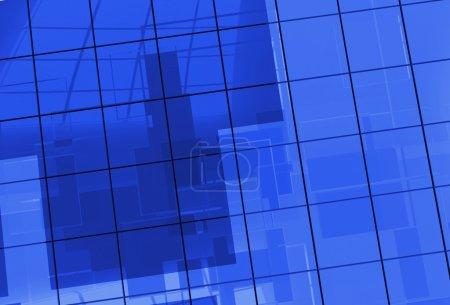 Blue Glass Blocks Background