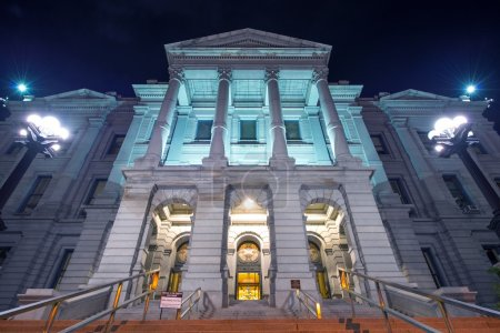 Photo pour Denver Colorado Capitol Building la nuit. Colorado State Capitol Situé au 200 East Colfax Avenue à Denver, Colorado . - image libre de droit