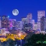 Denver Colorado at Night. Denver Downtown Skyline ...