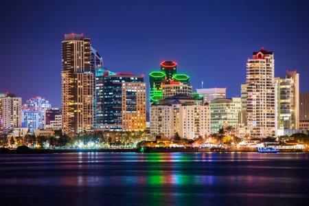 Colorful Skyline San Diego