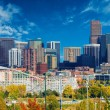 Sunny Day in Denver Colorado, United States. Downt...