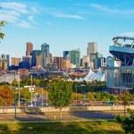 Denver Cityscape Colorado. Downtown Denver Skyline...