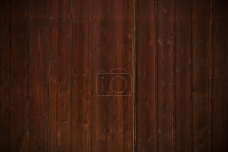 Photo for Dark Brown Wood Background. Aged Brown Planks Backdrop. - Royalty Free Image