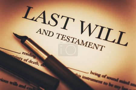 Last Will and Testament Document Ready to Sign. La...