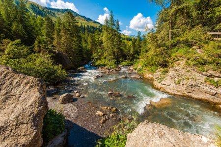 Alpine River in Switzerland