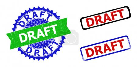 DRAFT Rosette and Rectangle Bicolor Stamp Seals with Rubber Surfaces