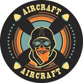 aviator skull emblem