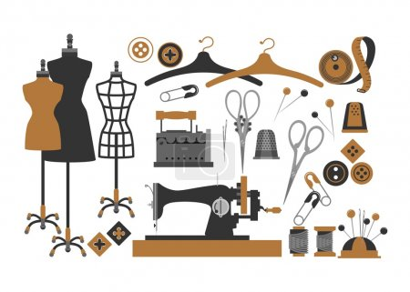 set of sewing items
