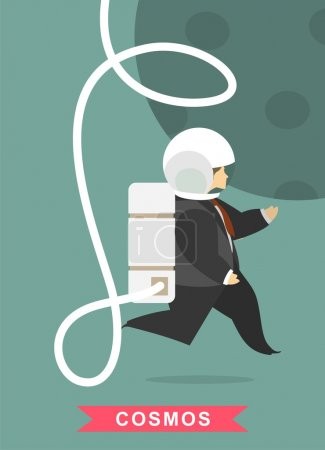 Businessman Falling In The Space