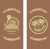 Carnival flyer on a wooden background