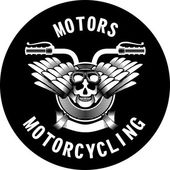 motorcycle ribbon emblem