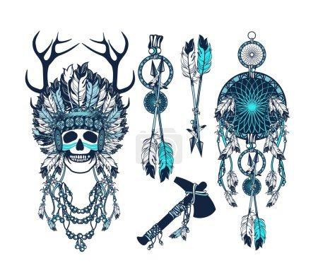 vector, illustration, ethnicity, abstract, head, old - B95065822
