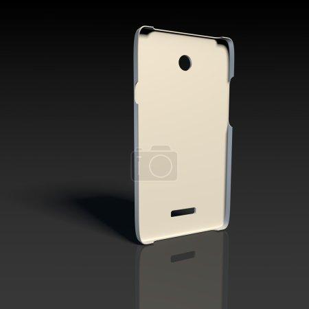 White plastic case for smartphone