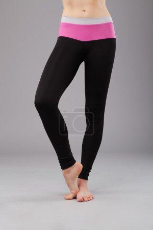 Beautiful legs of sporty woman