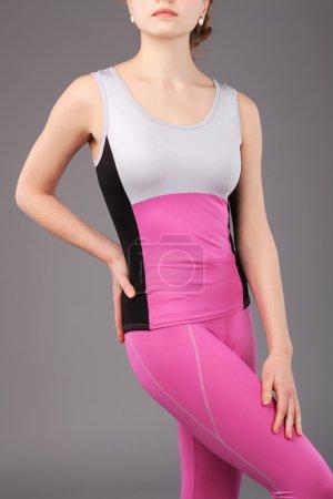 Beautiful sporty wowan in jumpsuit
