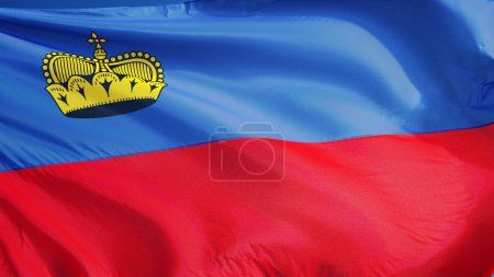 Liechtenstein flag, isolated with clipping path alpha channel transparency