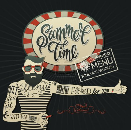 Summer Menu poster
