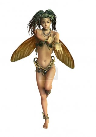 Fairy with Dreadlocks, 3d CG CA