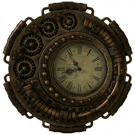 Steampunk Clock, 3d CG