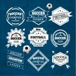 Soccer Football Typography Badge Design Element Ve...