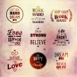 Inspirational and encouraging quote typography vec...
