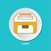 Laser Printing Machine Vector Icon Set