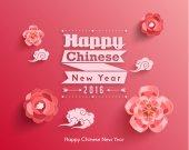 Orientální šťastný čínský Nový rok vektor
