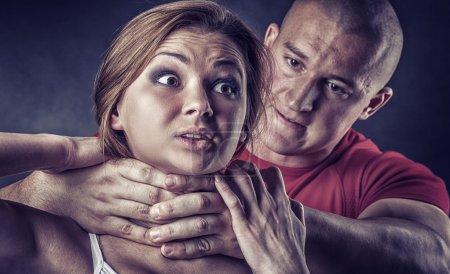 Woman victim of domestic violence