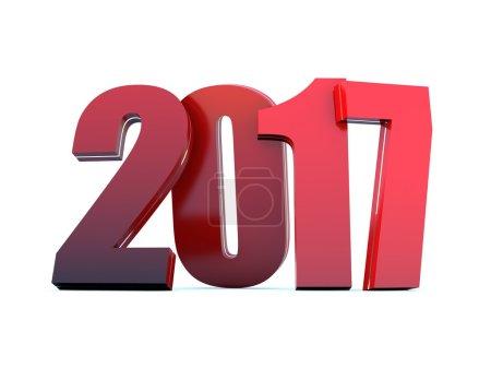 Photo pour Fond du calendrier 2017 - Bonne année - image libre de droit