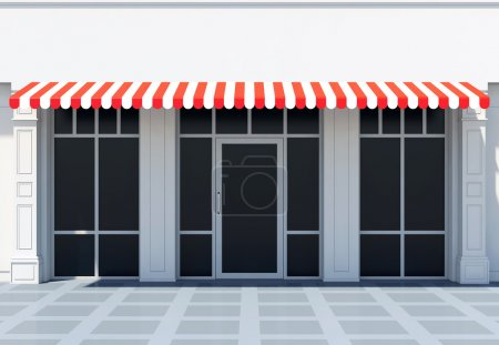 Classic store front with awnings