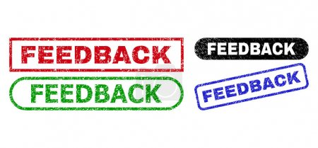 FEEDBACK Rectangle Seals with Grunge Texture