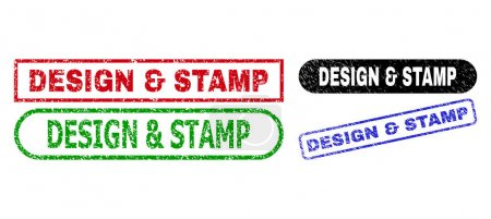 DESIGN and STAMP Rectangle Stamp Seals Using Distress Surface