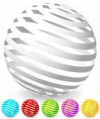 abstract striped spheres set