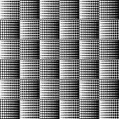 Abstract monochrome dotted half tone pattern vector illustration