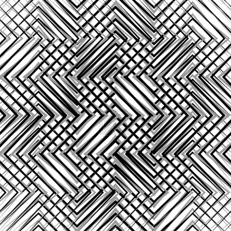 Grid, mesh, of zigzag