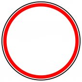 Generic red prohibition restriction sign