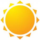 Sun with corona icon Simple geometric clip art
