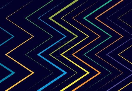 Illustration pour Ondulé, ondulé, zig-zag, lignes croisées motif géométrique abstrait, fond, texture ou toile de fond - image libre de droit