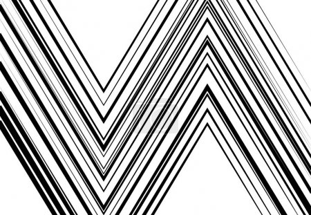 Illustration pour Ondulé, ondulé, zig-zag, lignes croisées abstraites géométriques noir et blanc, niveaux de gris, motif monochrome, fond, texture ou toile de fond - image libre de droit