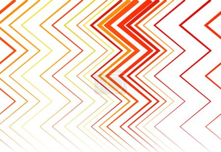 Illustration pour Ondulé, ridé, ondulé, zig-zag, lignes croisées abstraites coloré ROUGE, ORANGE motif géométrique, fond, texture ou toile de fond - image libre de droit